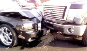 Two Cars Crashing Front 300x176 - How Much is a Personal Injury Lawsuit Worth in Maryland?