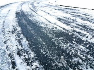 snowy road dangerous driving personal injury car accident